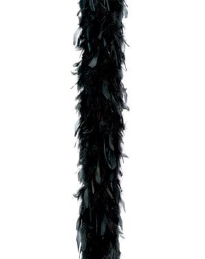 Boa di piume nere