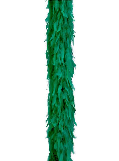 Boa z piór zielone