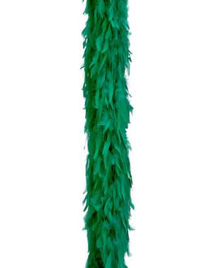 Eșarfă boa din pene verzi