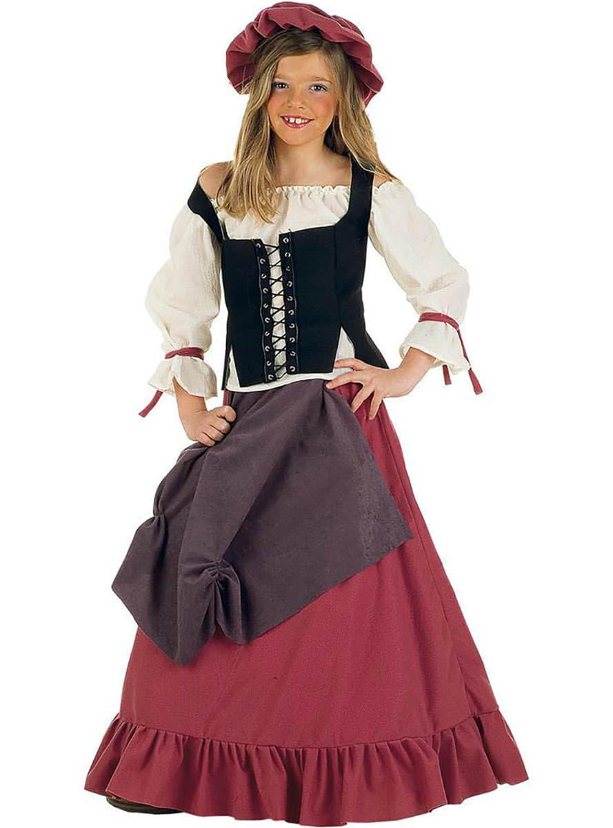 Costume da donna medievale Eliana bambina ... 9f9ae758119