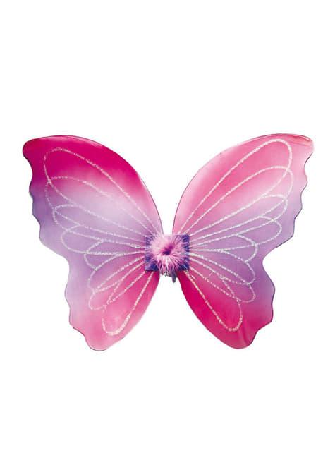 Rosa Schmetterlingsflügel