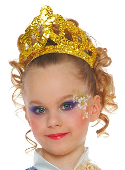 Diadema de lentejuelas de oro