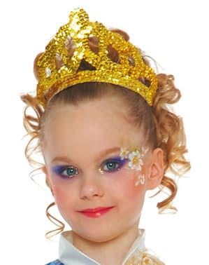 Diademă cu paiete de aur
