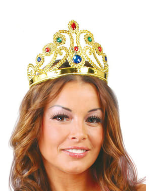 Coroa de rainha dourada