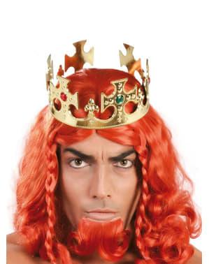 Corona de rey de oro