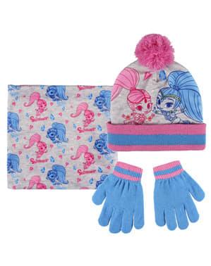 Set de guantes gorro y tapacuello infantil de Shimmer y Shine