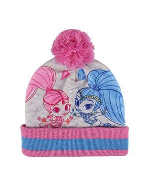 Zestaw czapka + ocieplacz na szyję + rękawiczki Shimmer i Shine dla dzieci