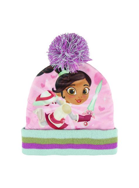 Zestaw czapka + ocieplacz na szyję + rękawiczki Rycerka Nella dla dzieci