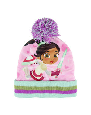 Nella The Princess Knight beanie hat, snood and gloves set for kids