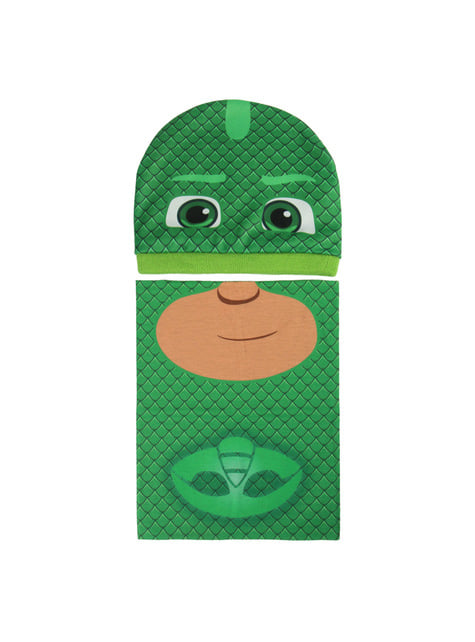 Conjunto de gorro e gola de pescoço infantil de Gekko - PJ Masks