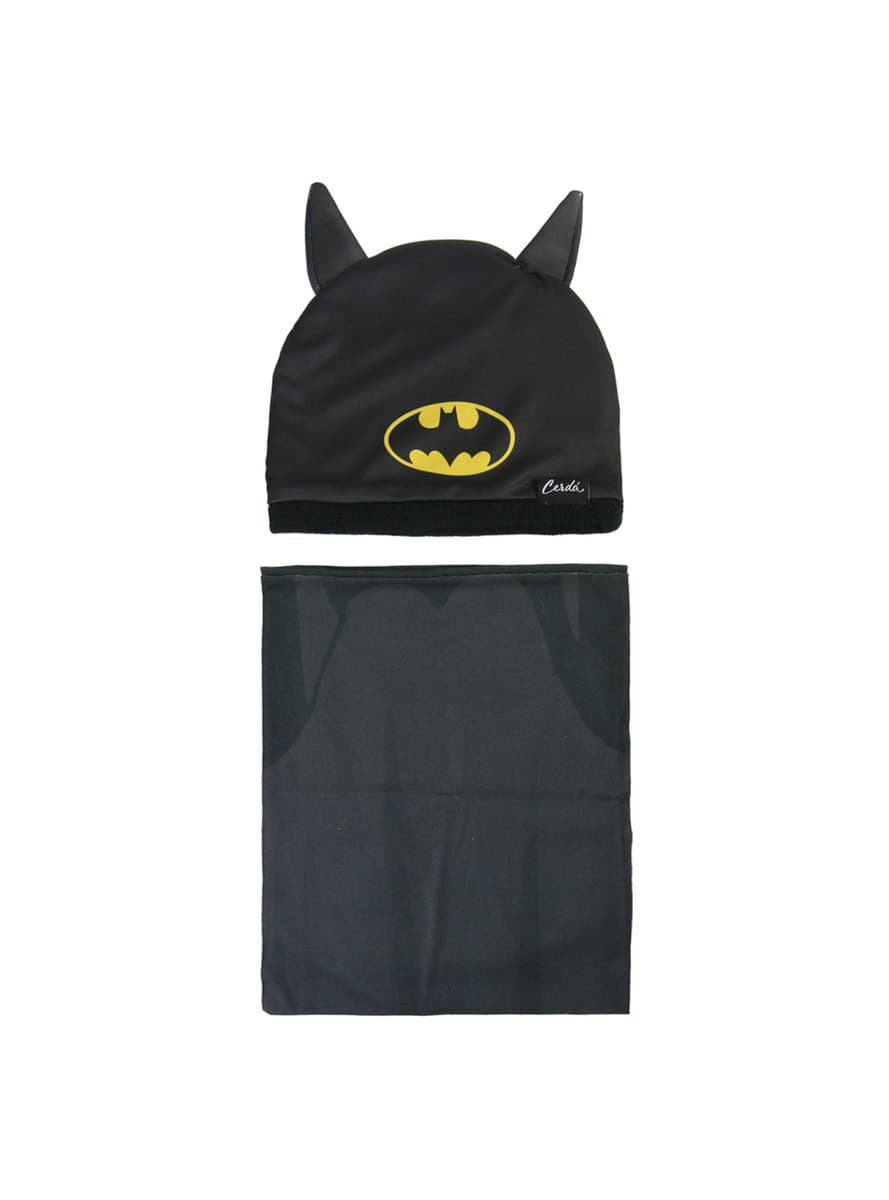 ca81af0cfc8 Batman beanie hat and snood set for kids