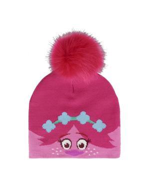 Poppy fur pompom lue til barn - Trolls