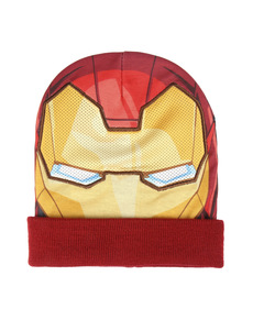 Iron Man beanie hat with mask for kids - The Avengers ... 9427b690a19