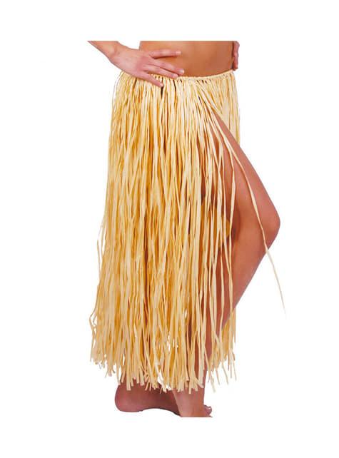 Falda hawaiana de paja