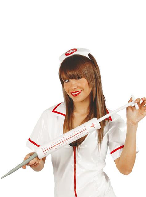 Wielka strzykawka pielęgniarki
