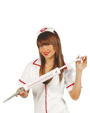Grande seringa de enfermeira