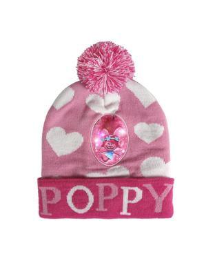 Poppy lue med lys til barn - Trolls