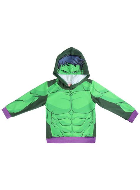 Sweatshirt de Hulk com capuz infantil - Os Vingadores