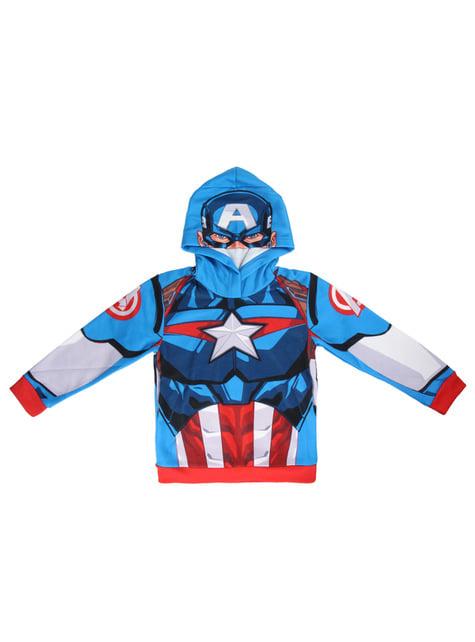 Sweatshirt de Capitão América com capuz infantil - Os Vingadores