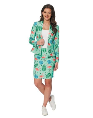 Costume Flamant Rose Tropical femme - Suitmeister