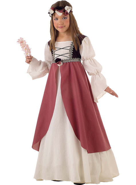 Girls Medieval Clarissa Costume