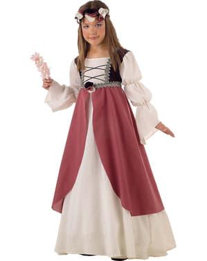 Kostium średniowieczny Clarisa dla dziewczynki