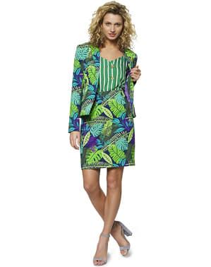 Tropischer Dschungel Anzug für Damen - Opposuits