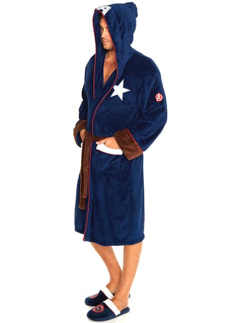 Albornoz de Capitán América para adulto