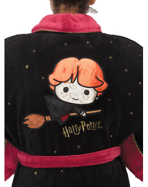 Ron Weasley Kawaii Fleece Bathrobe for Adults - Harry Potter