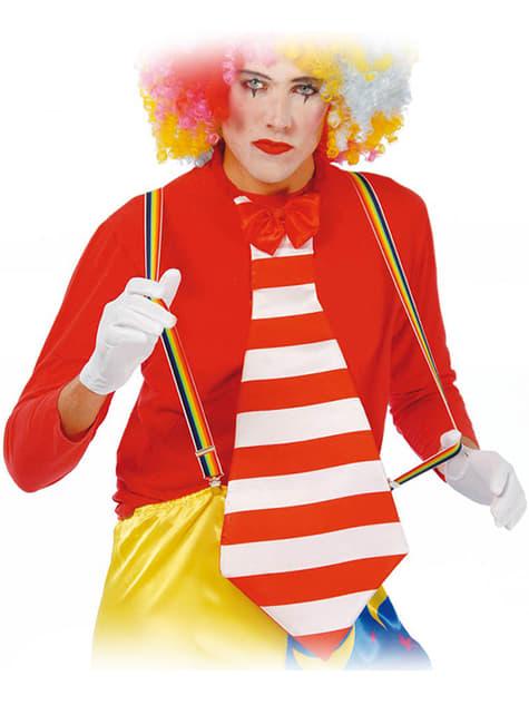 Bretelles multicolores de clown