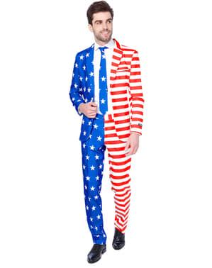 Kostym USA flagga Suitmeister vuxen