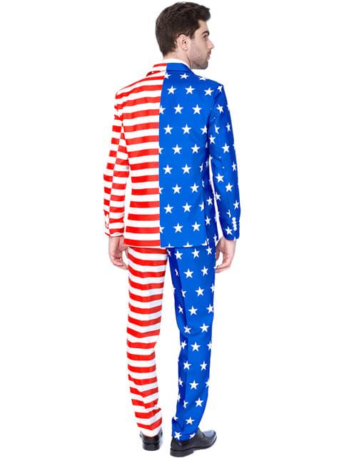 Suitmaster - Amerikan lippu -puku miehille