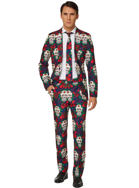 Fato Day of the Dead Suitmeister para homem