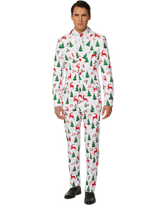 Traje Merry Christmas White Suitmeister para hombre