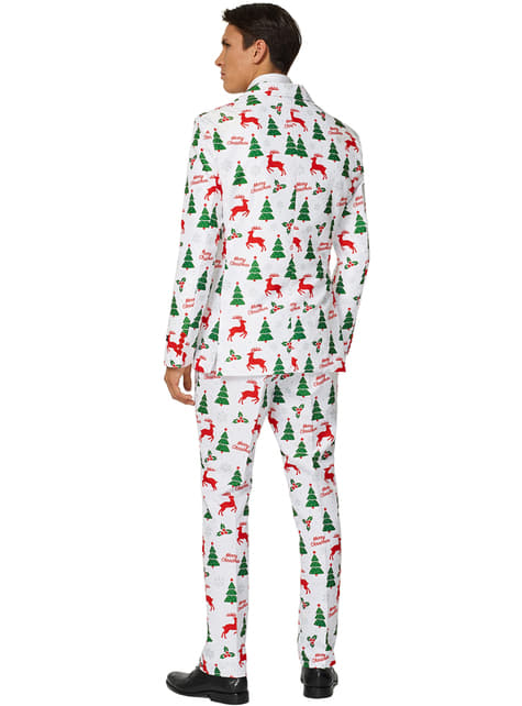 Wit Merry Christmas Suitmeister voor mannen