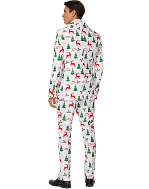 Biały garnitur Suitmaster Merry Christmas dla mężczyzn