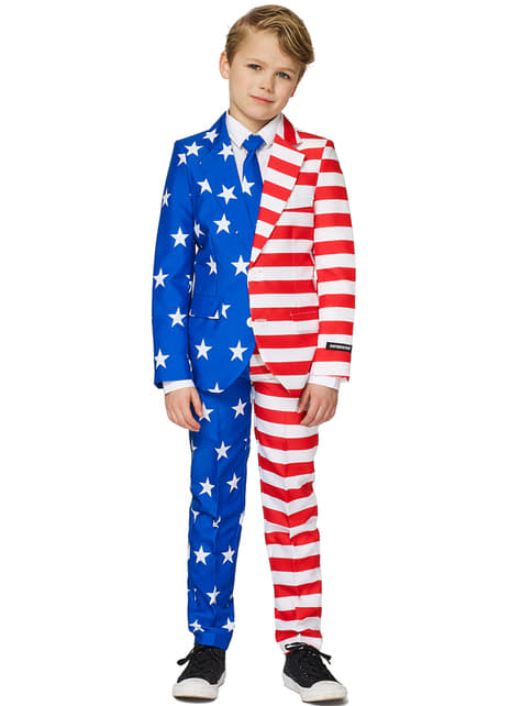 Garnitur Suitmaster flaga USA dla chłopców