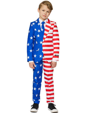 Kostym USA flagga Suitmeister barn