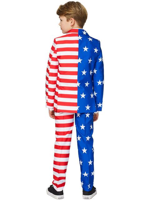 Fato Bandeira USA Suitmeister para menino