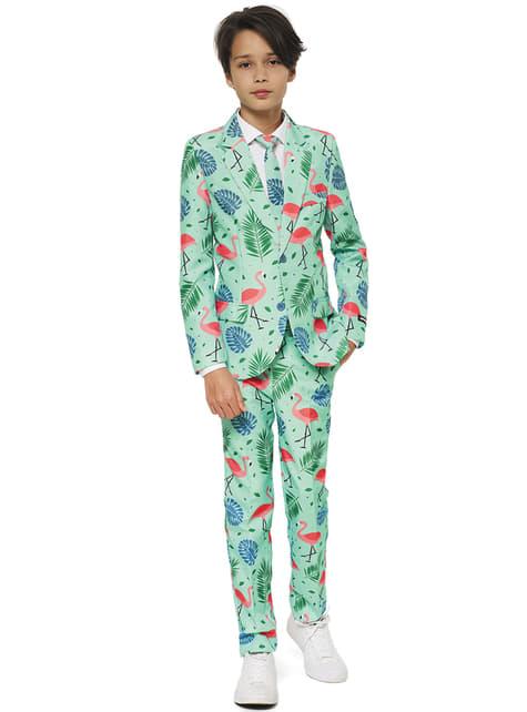 Fato flamingo tropical para menino - Suitmeister
