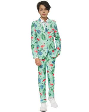 Tropischer Flamingo Anzug für Jungen - Suitmeister