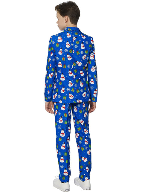 Suitmaster Christmas Blue Snowman Suit for Boys