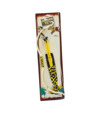 Arco com flechas de índio para adulto