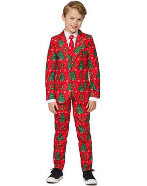 Traje Rojo de Árboles de Navidad para niño - Suitmeister