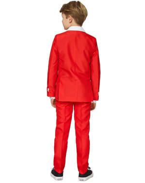 男の子のためのスーツマスターサンタ衣装スーツ