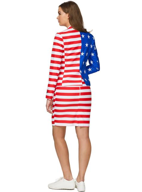 Fato de bandeira dos Estados Unidos para mulher - Suitmeister