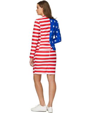 Abito in stile Bandiera Stati Uniti da donna - Suitmeister