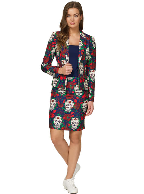 Fato Day of the Dead Suitmeister para mulher