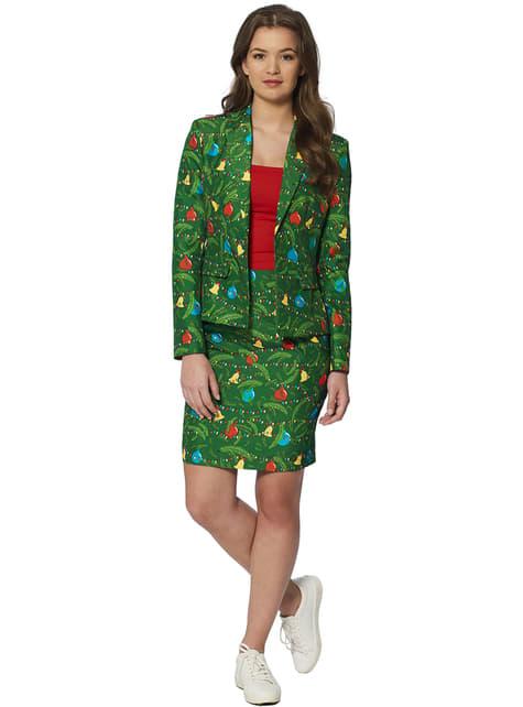 Suitmeister puku vihreillä puilla naisille