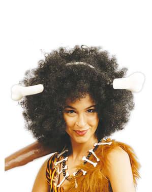 Höhlenfrau Steinzeit Haarreif
